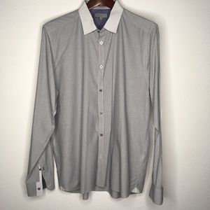 Ted Baker Flip Cuff Button Down Size 6 {XXL}